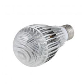 Светодиодная LED RGB цветная лампа 9W с пультом управления