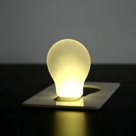 Карточка лампа со светодиодом плоская и легкая