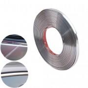 Универсальный молдинг для стайлинга автомобиля 10мм*15м серебряный