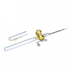 Портативная телескопическая удочка спиннинг с трещоткой