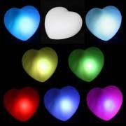 Сердце светящееся разными цветами - набор 3 шт