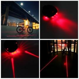 Велофонарь с лазером и светодиодами