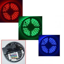 Самоклеящаяся цветная светодиодная LED RGB лента с пультом управления