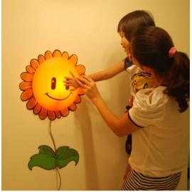 Светодиодный ночник для детской комнаты с настенным 3D рисунком Подсолнух