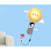 Светодиодный ночник для детской комнаты с настенным 3D рисунком Воздушный Шар