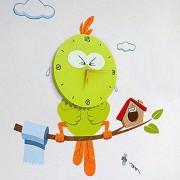 """Настенные часы 3D """"птица"""" для детской"""