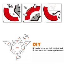 Настенные часы для детской комнаты c 3D стикером Летучая Мышь