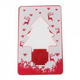 Карточка-лампа в форме елочки со светодиодом