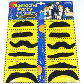 Самоклеящиеся накладные усы для маскарада, набор 12 штук