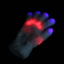 Перчатка с разноцветной подсветкой светодиодами для маскарада, развлечения