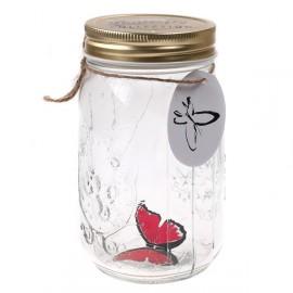 Декоративная бабочка в банке