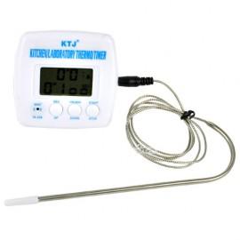 Электронный термометр с выносным датчиком (для мяса)