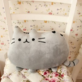 Плюшевая декоративная подушка Кот Пушин Pusheen - розовый цвет