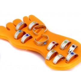 Набор кольца на пальцы ног 12 штук с подставкой