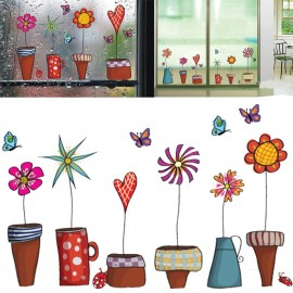 Наклейка цветок для декора стены, украшения дома