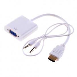 Переходник HDMI в VGA со звуком для подключения ноутбука к проектору