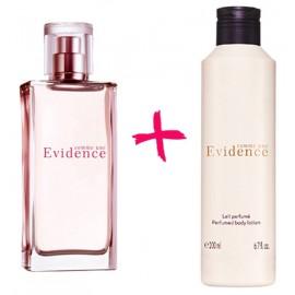 Подарочный набор духи Эвиденс + парфюмерное молочко лосьон для тела Evidence