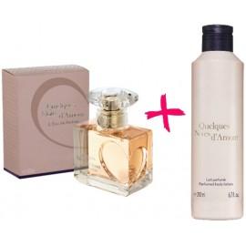 Подарочный набор Ив Роше Yves Rocher духи Несколько Нот Любви + парфюмерное молочко для тела