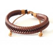 Кожаный браслет Хенка Муди из сериала Californication коричневый
