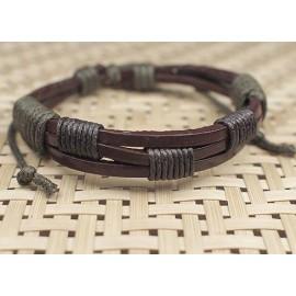 Кожаный плетеный браслет Капитан