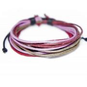 Веревочный кожаный браслет Лаванда