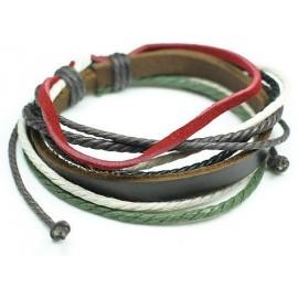 Веревочный кожаный браслет Фортуна
