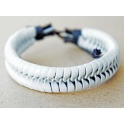 Кожаный плетеный браслет Атлантида