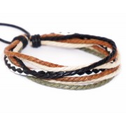 Веревочный кожаный браслет Барин