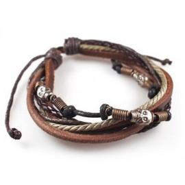 Кожаный браслет Дикое Племя коричневый