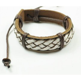 Кожаный плетеный браслет Греция