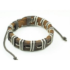 Кожаный плетеный браслет Магеллан