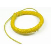 Кожаный плетеный браслет Колосок