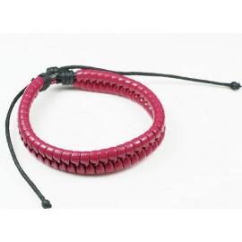 Кожаный плетеный браслет Марсала