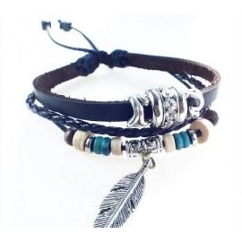 Оригинальный кожаный браслет Перо