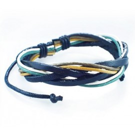 Кожаный плетеный браслет Венеция