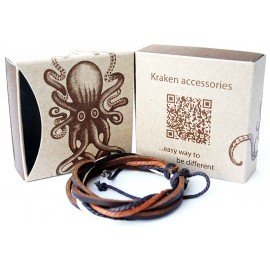 Веревочный кожаный браслет Дон Кихот коричневый