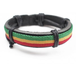 Кожаный растаманский браслет Боб Марли