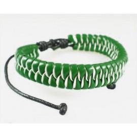 Кожаный плетеный браслет Альпийский Луг