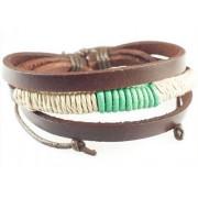 Кожаный плетеный браслет Робин Гуд