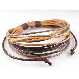 Веревочный кожаный браслет Мокка