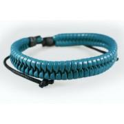 Кожаный плетеный браслет Лазурный берег