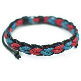 Стильный кожаный плетеный браслет Сицилия