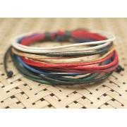 Веревочный кожаный браслет Удача