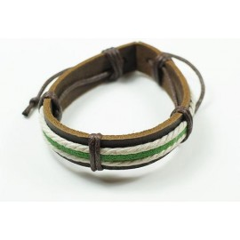 Кожаный плетеный браслет Сокровище