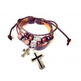 Оригинальный кожаный браслет Символ Веры