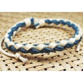 Кожаный браслет Плетеный Узор
