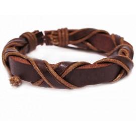 Кожаный плетеный браслет Зевс
