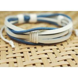 Кожаный плетеный браслет Лед