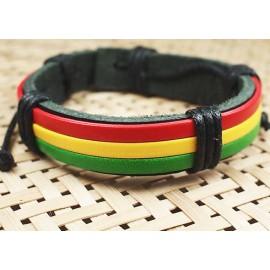 Кожаный растаманский браслет Марли