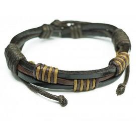 Кожаный плетеный браслет Египет